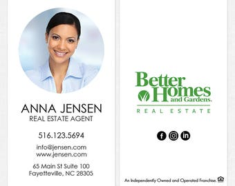 Better Homes and Gardens real estate business cards - thick, color both sides - FREE UPS ground shipping