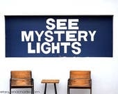 "RESERVED for Demi - Marfa Texas See Mystery Lights 20"" x 30"" Print UNFRAMED"
