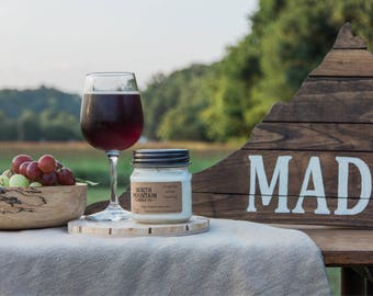 Virginia Wine Country | Handmade Soy Wax Mason Jar Candles | Choose Your Size | 4 oz. | 8 oz. | 16 oz. | North Mountain Candle Co.