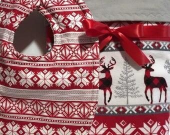 Flannel Baby Blanket - Buffalo Plaid Blanket - Deer Baby Blanket - Baby Gift Set - Baby Blanket - Baby Boy Receiving Blanket - Rustic Baby