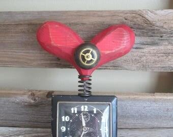 Vintage alarm clock w/heart
