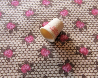clover blossoms floral print vintage cotton fabric -- 42 wide by 1 yard