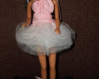 Pretty pink teen doll tutu for dolls like Barbies