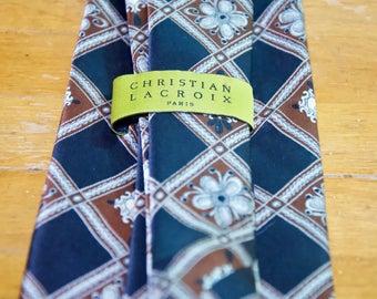 Vintage Christian Lacroix Silk Tie
