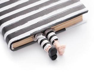 BACK TO SCHOOL 20% off // Prisoner bookmark // Striped legs of prisoner cool gift for friend // Back to school gift for student, teacher //