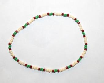 Hippie Boho Anklet Opaque Czech Glass Seed Beaded Jewelry Women Teen Accessories Gift by CzechBeaderyShop