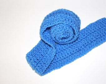 Royal Blue Scarf ~ Toddler, Child, Kids Chunky, Ribbed Neckwarmer