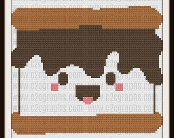 Smores Baby C2C Graph, Smores Baby Large Afghan, Smores Baby Crochet Pattern