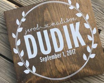Custom Wood Wedding Sign // Family Sign // Wedding Gift // Anniversary Gift