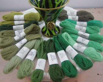20 Skeins of 100% Wool Appleton Bros. Ltd. London Crewel, Embroidery thread. Ideal for Needlepoint.