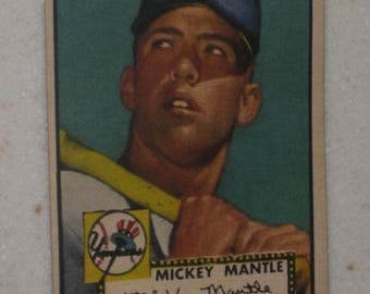 new just in 1952 topps mickey mantle rookie card type 2 looks unbelievable