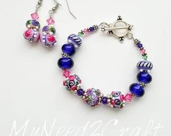 Tea Party Bracelet and Earrings