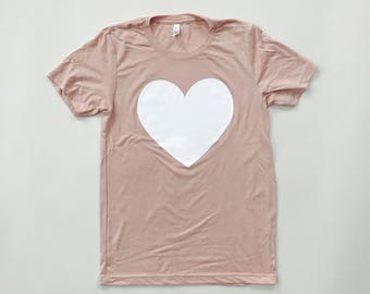 PEACH HEART - Tri-blend T-Shirt- UNISEX