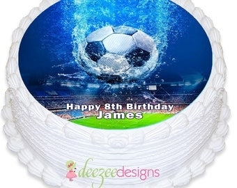 Soccer World Cup Round Edible Icing Cake Topper - PRE-CUT - EI144R
