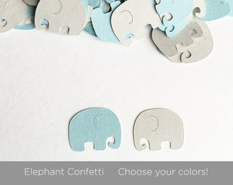 Elephant Confetti, Baby Shower Decorations, Elephant Baby Shower, Customize Colors