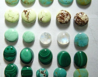35 cabs 9 - 11 mm Round Cabochons, rare and scarce, natural, ring size, small cab, min order 2 cabs , price is for 1 cab (SC6571)