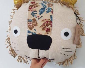 Lion Pillow Decorative Pillow Lion Cushion Throw Pillow  Gift Home Decor Animal Cushion Lion Decor Stuffed Lion
