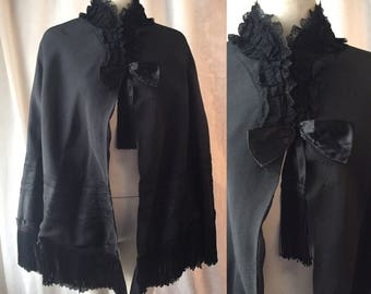 Victorian gothic cape / mourning cape