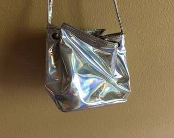 Holographic 90s Joe Boxer bag // vintage