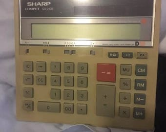 Sharp compet QS-2130 solar cell calculator with battery back up