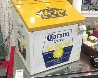 Vintage Style Corona Beer Beach Patio Car Show Hot Rat Rod VW Enthusiasts