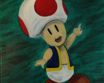 Toad Oil Painting