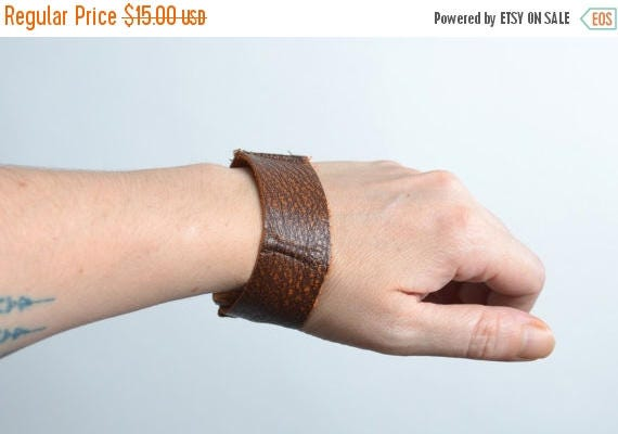 ON SALE Men Brown Leather Cuff - Twisted Men's Leather Cuff - Leather Cuff - Men Leather Cuff - Men's Accessories