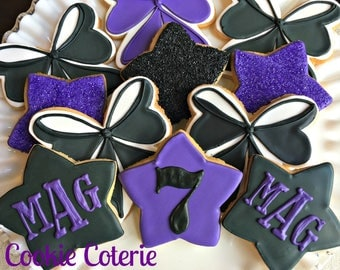Cheer Squad Cheer Bow Decorated Cookies Birthday Party Favors One Dozen