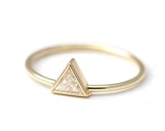 ON SALE Trillion Diamond Ring, Diamond Engagement Ring, Triangle Diamond Ring, Modern Diamond Ring, Minimalist Engagement Ring, Triangle Rin