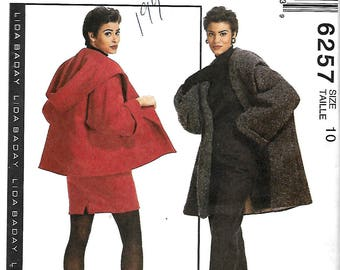 McCall's 6257 Lida Baday Lined Coat, Jacket, Skirt And Pants Pattern, Size 10, UNCUT