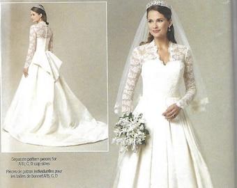 ON SALE Butterick 5731 Bridal Gown Pattern, Wedding Dress, Size 6-14, UNCUT