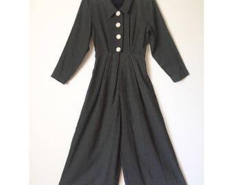 90s cropped wide leg jumpsuit