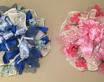 Twin Wreaths for Twin Babies