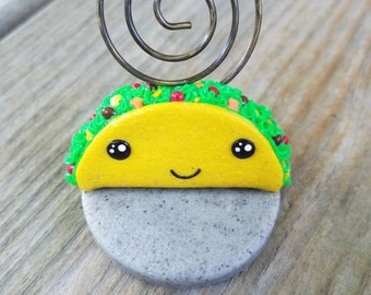 Kawaii Smiling Taco Note/Picture Holder