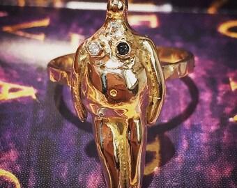 "10k Gold: ""Eva La Mujer Total"" Sculpture by Andrea Chavarin"