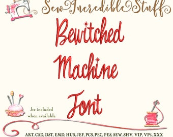 Bewitched Machine Embroidery font