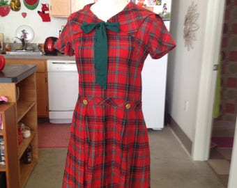 Plaid schoolgirl sailor dress medium