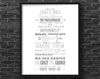 Steve Jobs, Here's to the Crazy Ones Inspirational Quote