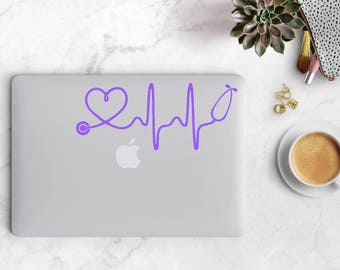 Heartbeat Stethoscope, Stethoscope Decal, Heartbeat Stethoscope Decal, Car Decal, Laptop Decal, Nurse Decal