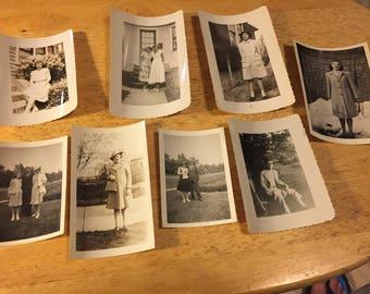 Fashion of the 1940's - 8 Black & White Photos