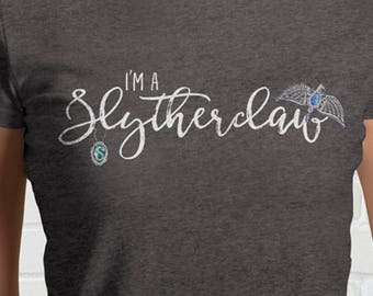 I'm A SLYTHERCLAW Ladies T-Shirt - Mixed Hogwarts House | Fun Harry Potter Gift