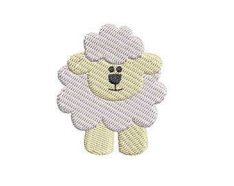 Mini Lamb Machine Embroidery Design - Instant Download