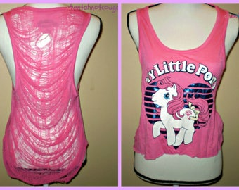 My Little Pony Shredded Crop Shirt