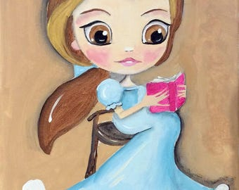 Belle Reading Beauty and the Beast  Fairy Tale Books