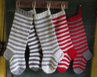 NEW 2017 Christmas Stocking Personalized Wool knit Striped Christmas decoration Red Green White Grey Blue Pink Orange Yellow Brown stockings
