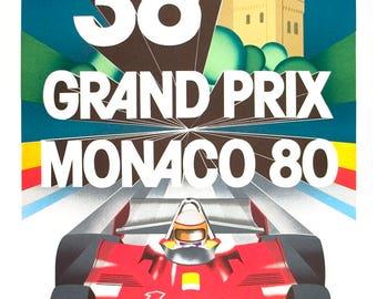 Grognet-Monaco Grand Prix 1980-1989 Lithograph