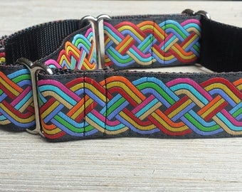 """1.5"""" Wide Martingale Collar, Celtic pattern,"""