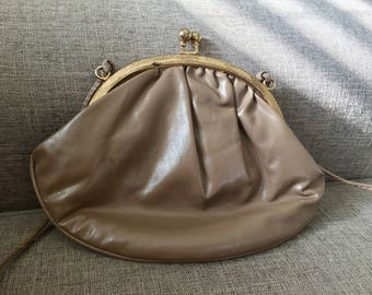 Vintage 80s brown purse