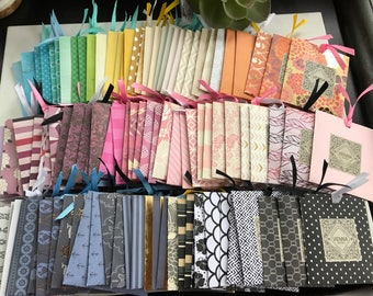 Plain Microfiber Cloth with Assorted Handmade Pouch w/Ribbon - Set of 24