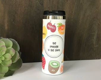 Personalized Colorful Fruitage of the Spirit Tumblers